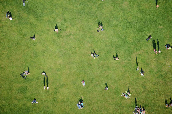 Photograph - Aerial Of People On The Field In by Cameron Davidson