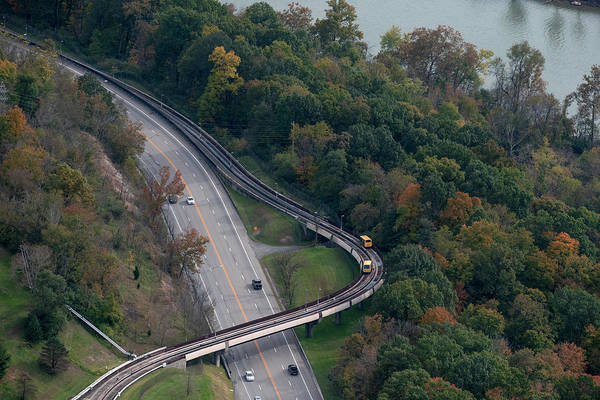 Photograph - Aerial Of Prt And Prt Cars by Dan Friend