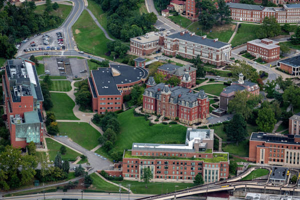Photograph - Aerial Of Woodburn Hall Surrounding Buildings Downtown Campus Area by Dan Friend