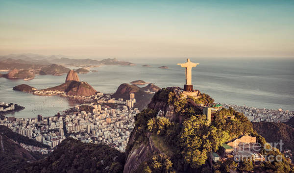 Wall Art - Photograph - Aerial Panorama Of Botafogo Bay And by Marchello74