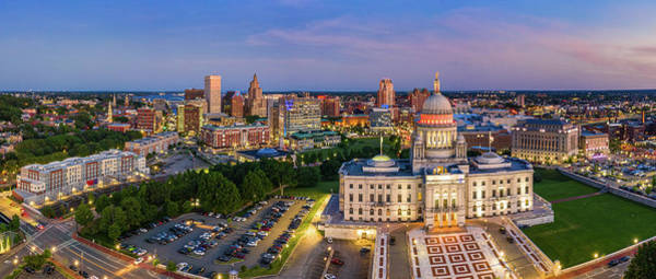 Wall Art - Photograph - Aerial Panorama Of Providence, Rhode Island by Mihai Andritoiu