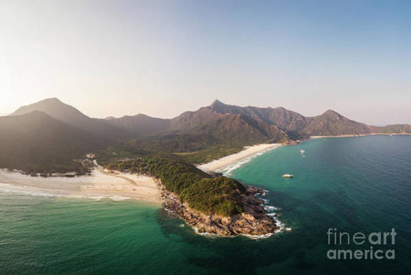 Photograph - Aerial Panorama Of Sai Kung Area In Hong Kong by Didier Marti