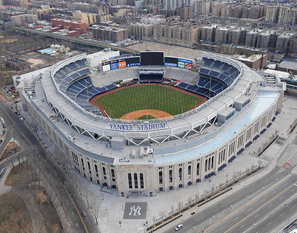 Aerial Photos Of The New Yankee Stadium Art Print by New York Daily News Archive
