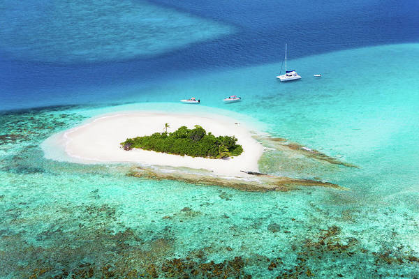 British Virgin Islands Photograph - Aerial Shot Of Sandy Spit In British by Cdwheatley