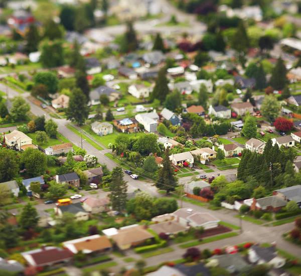 Suburbs Photograph - Aerial by Thomas Northcut