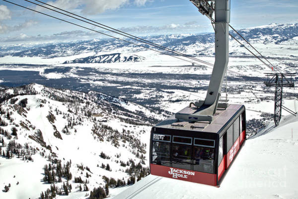 Photograph - Aerial Tram At Jackson Hole by Adam Jewell