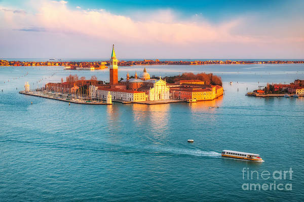 Wall Art - Photograph - Aerial View At San Giorgio Maggiore by S.borisov