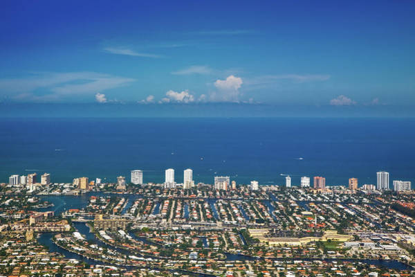 Florida Nature Photograph - Aerial View Broward County by By Michael A. Pancier