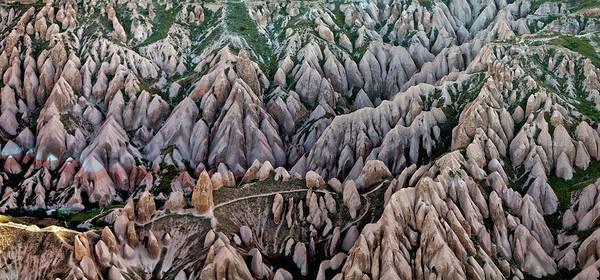 Cappadocia Photograph - Aerial View Landscape by Julio López Saguar
