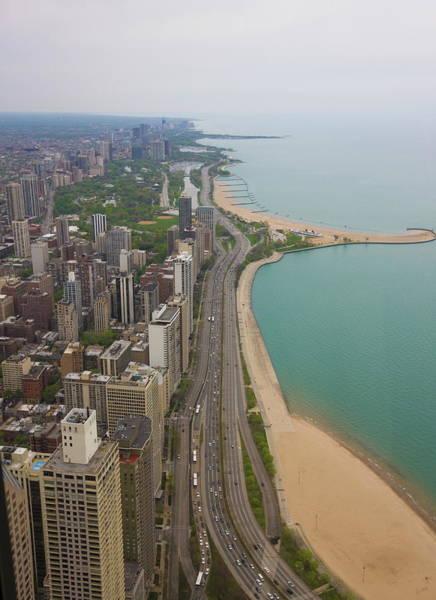 Lakeshore Photograph - Aerial View Looking North Up Lakeshore by Amanda Hall / Robertharding