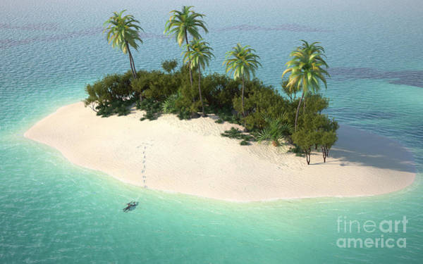Tourism Wall Art - Digital Art - Aerial View Of A Caribbean Desert by Pablo Scapinachis