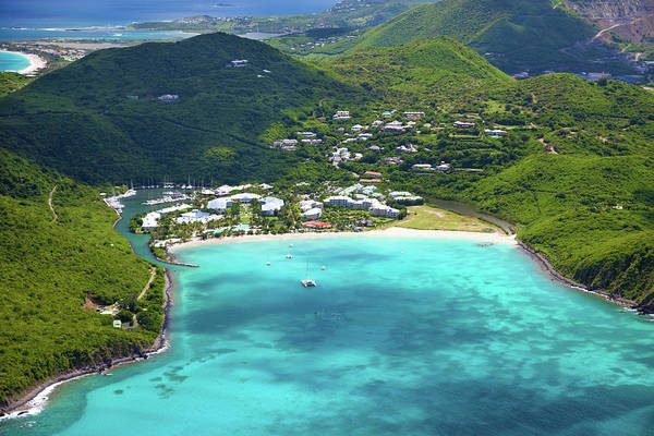 Wall Art - Photograph - Aerial View Of A Resort In St.martin by Cdwheatley