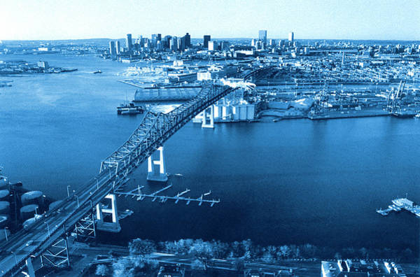 Bleached Photograph - Aerial View Of Boston, Ma by John Coletti
