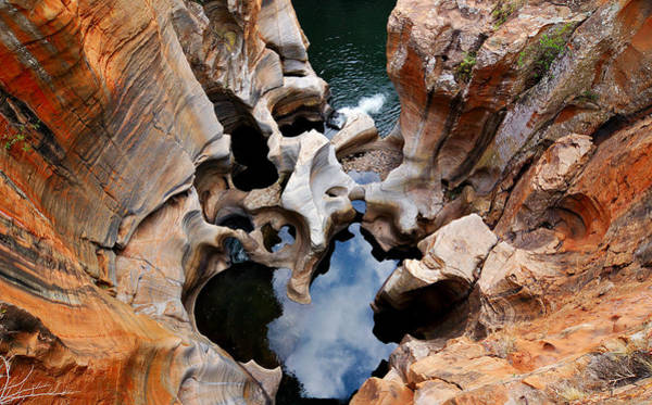 Potholes Wall Art - Photograph - Aerial View Of Bourkes Luck Potholes At by Freder