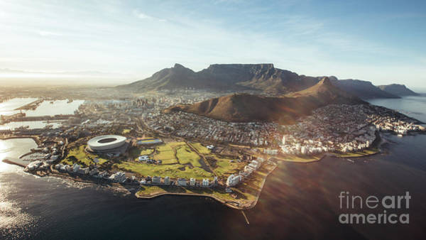 Featured Wall Art - Photograph - Aerial View Of Cape Town With Cape Town by Jacob Lund