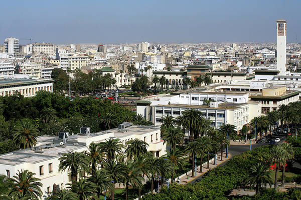 Courthouse Towers Wall Art - Photograph - Aerial View Of Casablanca - Morocco by Hisham Ibrahim