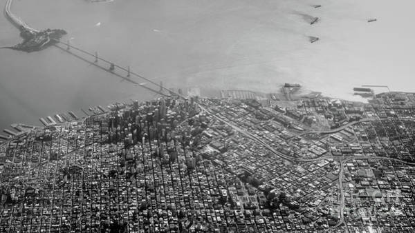 Photograph - Aerial View Of Downtown San Francisco From The Air by PorqueNo Studios