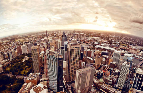 Riverside Wall Art - Photograph - Aerial View Of Downtown Sydney At by Andrey Bayda