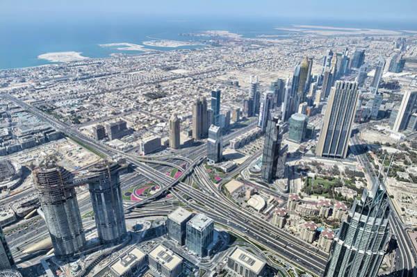 Wall Art - Photograph - Aerial View Of Dubai by David Pyatt