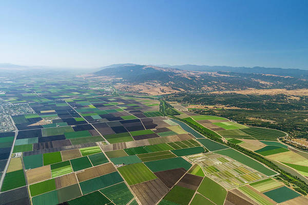 Wall Art - Photograph - Aerial View Of Farmland, Monterey by Stuart Dee