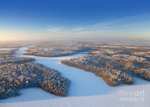 Wall Art - Photograph - Aerial View Of Forest Plain In Time Of by Vladimir Melnikov