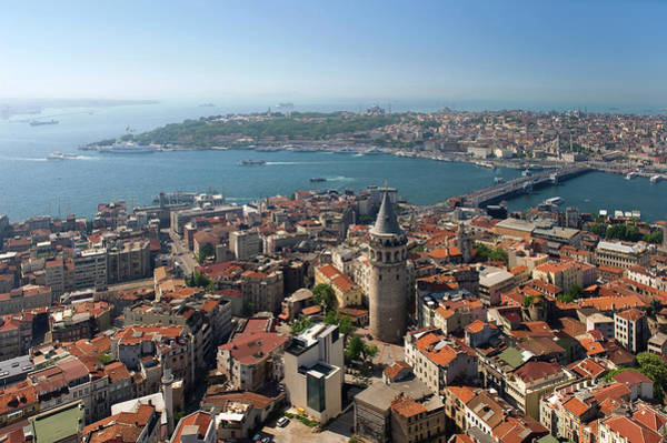 Galata Photograph - Aerial View Of Galata And Historical by Izzet Keribar