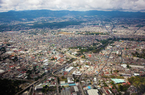 Wall Art - Photograph - Aerial View Of Guatemala City by Tom Pfeiffer / Volcanodiscovery