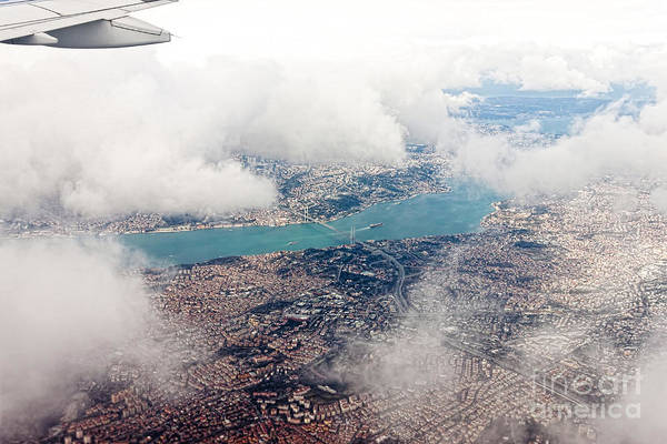 Wall Art - Photograph - Aerial View Of Istanbul by Koraysa