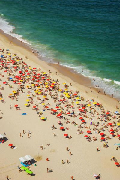 Beach Holiday Photograph - Aerial View Of Leblon Beach In Rio De by Gonzalo Azumendi