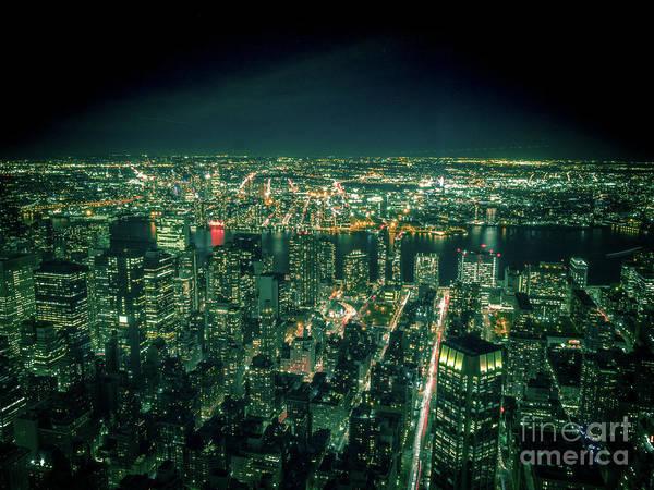 Photograph - Aerial View Of Manhattan Skyline  by PorqueNo Studios