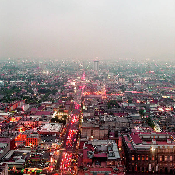 Mexico City Photograph - Aerial View Of Mexico City by Jasper James