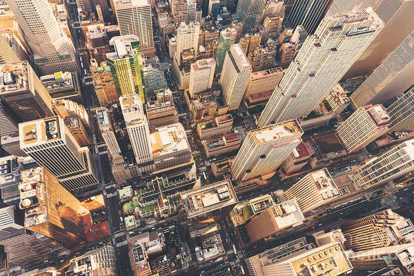 Midtown Photograph - Aerial View Of Midtown Manhattan At by Tierneymj