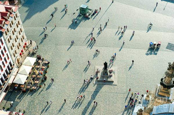 Wall Art - Photograph - Aerial View Of  Neumarkt Square In by Joyfull