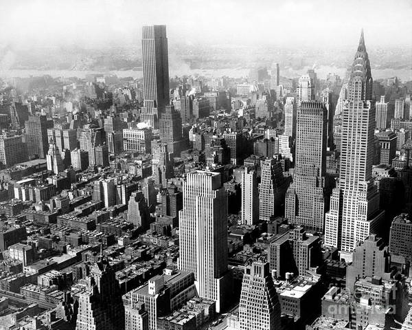 Wall Art - Photograph - Aerial View Of New York City by New York Daily News Archive
