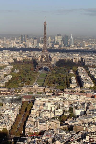 Paris Rooftop Photograph - Aerial View Of Paris by Martial Colomb