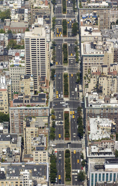 Aerial View Photograph - Aerial View Of Park Ave. In Manhattan by New York Daily News Archive