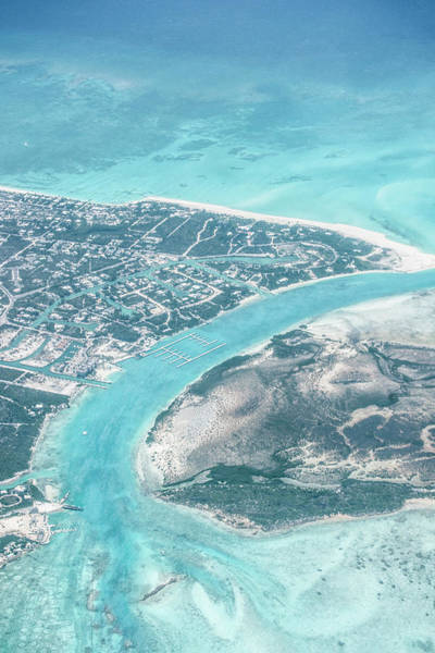 Turks And Caicos Islands Wall Art - Photograph - Aerial View Of Providenciales With by Kim Walker / Robertharding