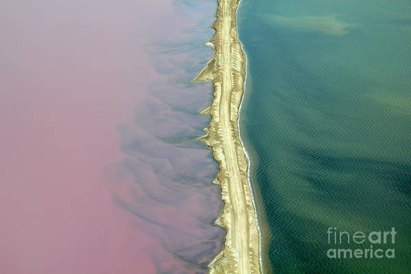 Sodium Chloride Wall Art - Photograph - Aerial View Of Road Between Commercial by Claude Huot