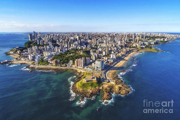 Wall Art - Photograph - Aerial View Of Salvador Da Bahia by R.m. Nunes