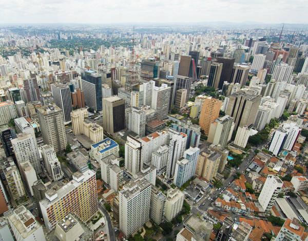 Southeastern Photograph - Aerial View Of Sao Paulo by Josemoraes