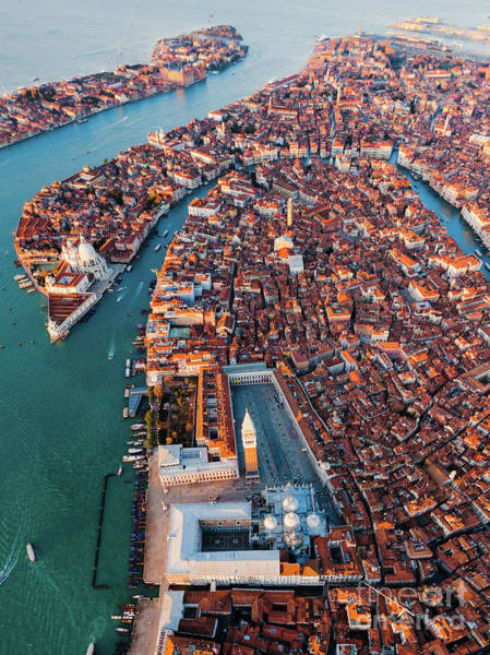 Wall Art - Photograph - Aerial View Of St Mark Square, Venice, Italy by Matteo Colombo