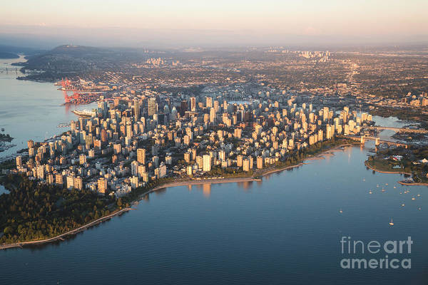 Wall Art - Photograph - Aerial View Of Stanley Park And by Eb Adventure Photography