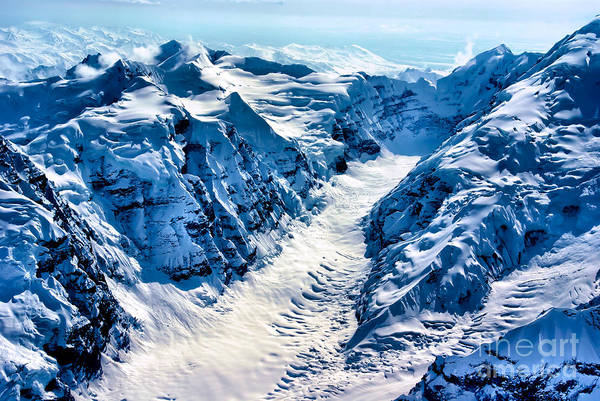 Wall Art - Photograph - Aerial View Of The Beginning Of A by Richard A Mcmillin