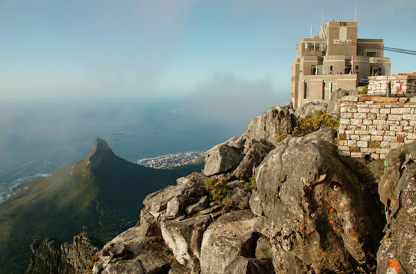 Table Mountain Wall Art - Photograph - Aerial View Of The Cable Car Mountain by Altrendo Travel