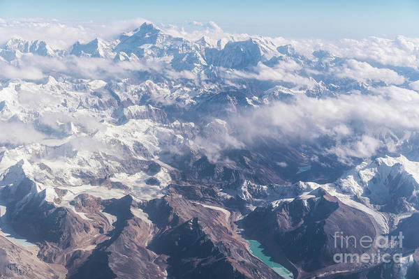 Photograph - Aerial View Of The Kangchenjunga Mountain Between Nepal And Indi by Didier Marti