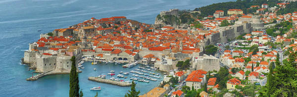 Photograph - Aerial View Of The Old City Of  Dubrovnik by Steve Estvanik