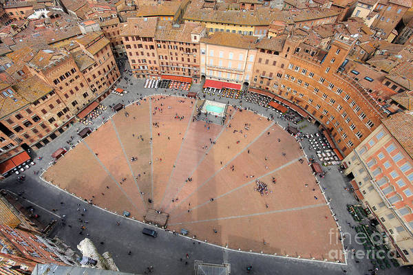 Del Photograph - Aerial View Of The Piazza Del Campo by Mihai-bogdan Lazar