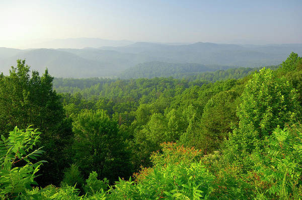 Wall Art - Photograph - Aerial View Of The Smoky Mountain by Greenstock