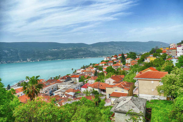 Photograph - Aerial View Of Town From Kanli Kula Fortress by Steve Estvanik