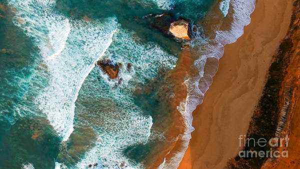 12 Wall Art - Photograph - Aerial View Of Twelve Apostles At Dawn by Pisaphotography